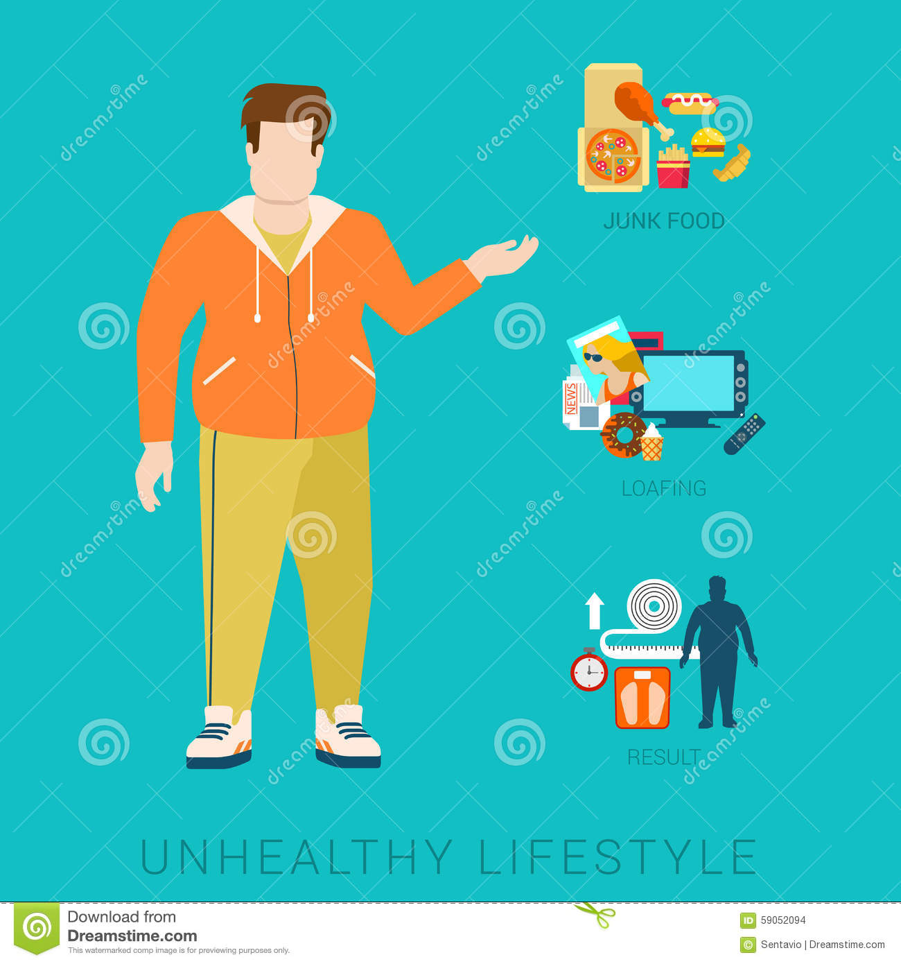Unhealthy Poor Lifestyle Habit icons by Gan Khoon Lay |Unhealthy Lifestyle Icon