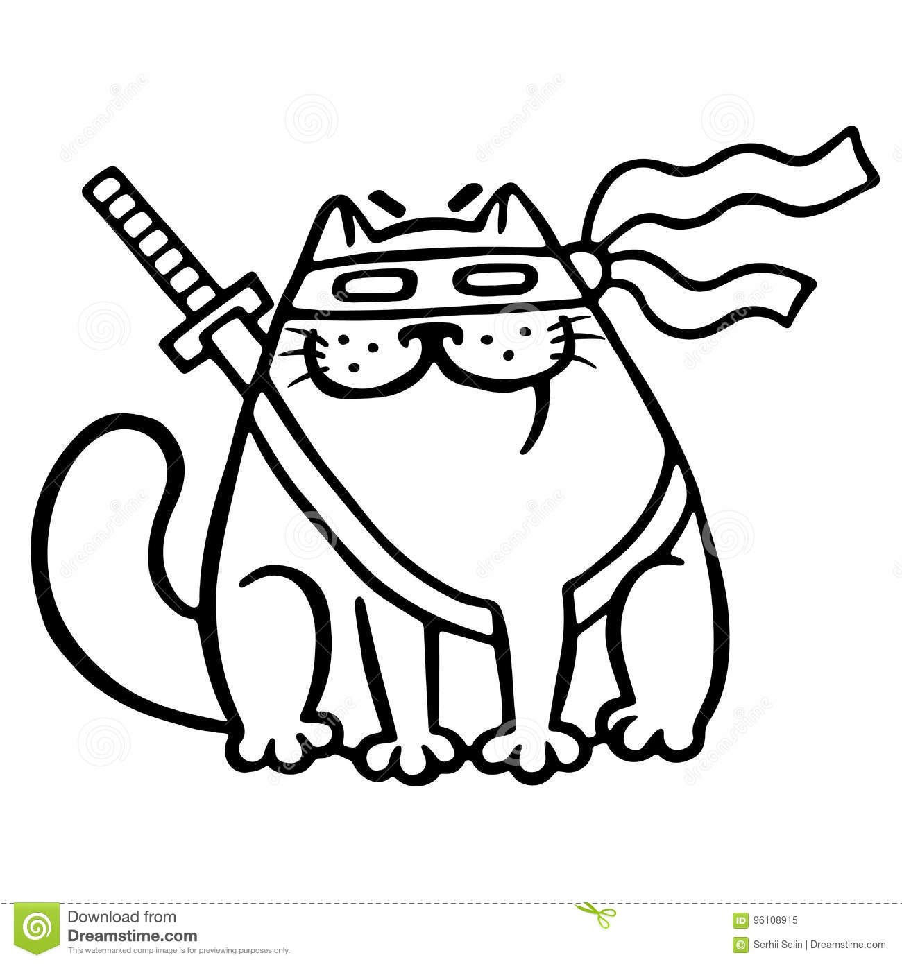 ninja cat coloring pages - photo#12