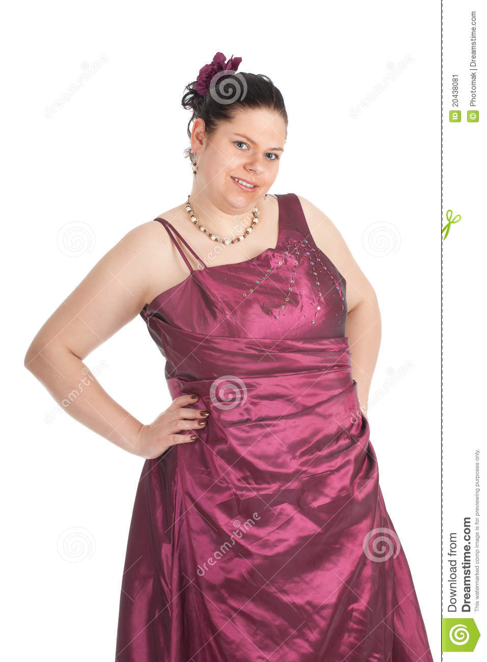 Fat woman in ball dress stock image. Image of figure - 20438081