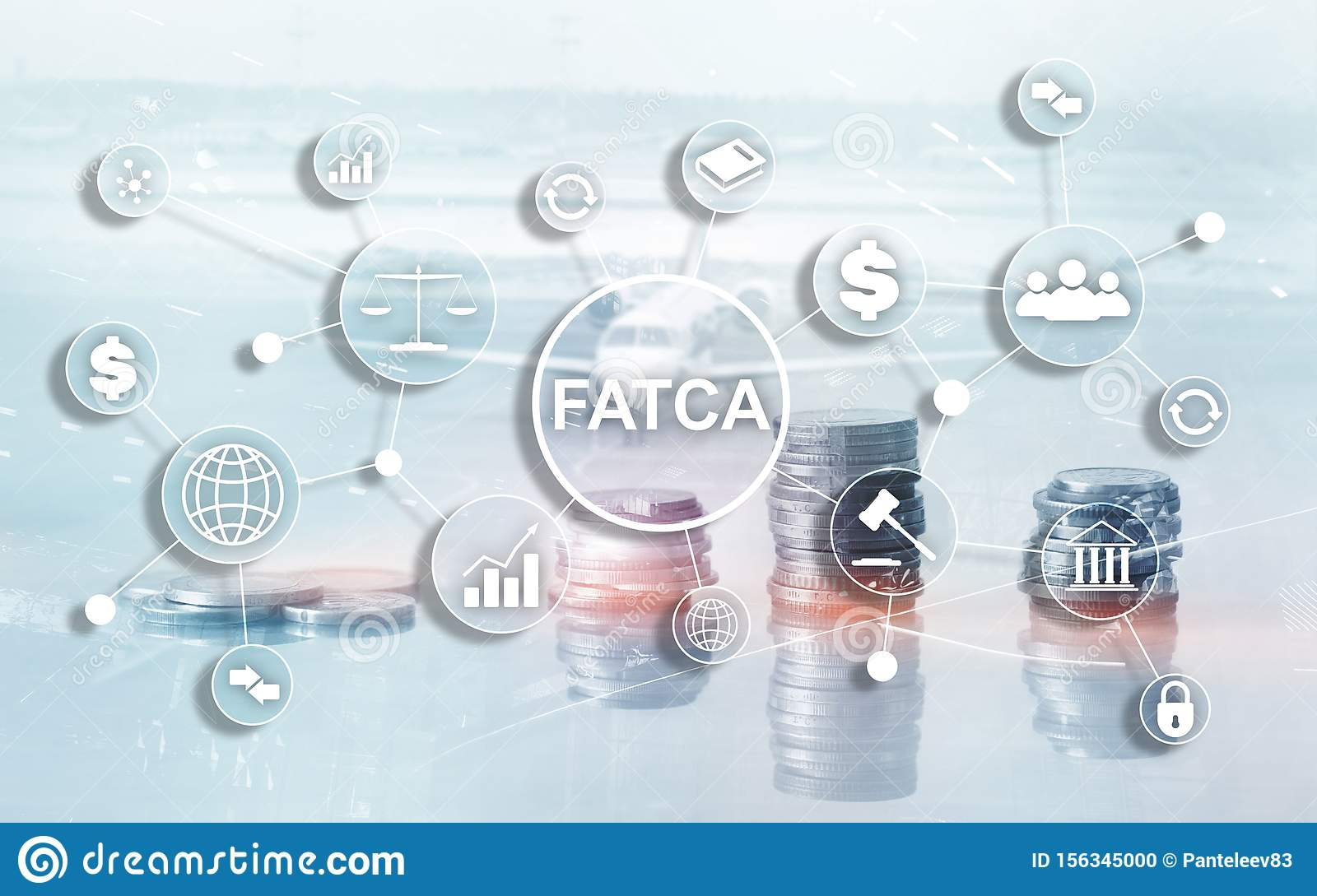 FATCA Foreign Account Tax Compliance Act United States of America government law business finance regulation concept.