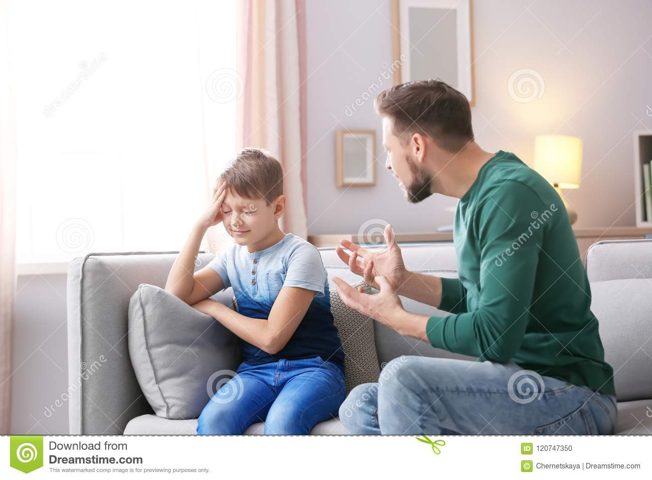 Father arguing with son
