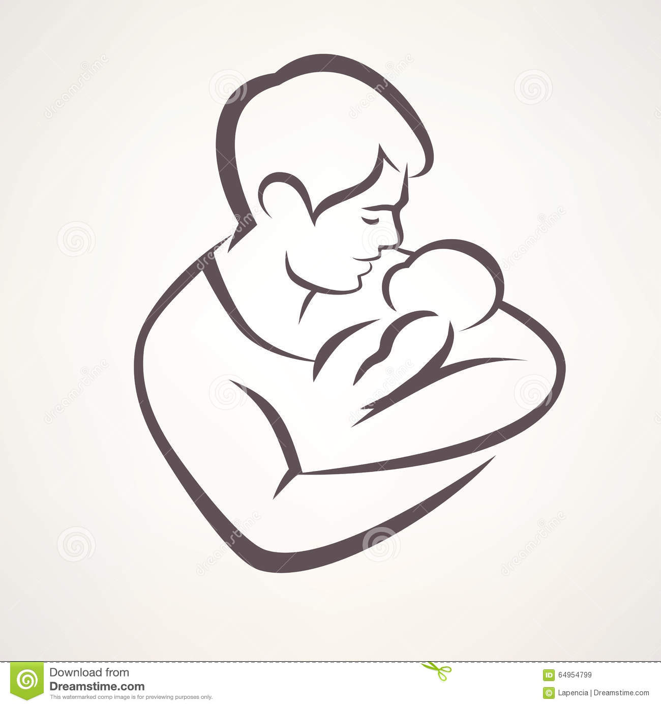 Father and baby symbol stock vector illustration of tattoo 65896756 father and baby royalty free stock images biocorpaavc Gallery