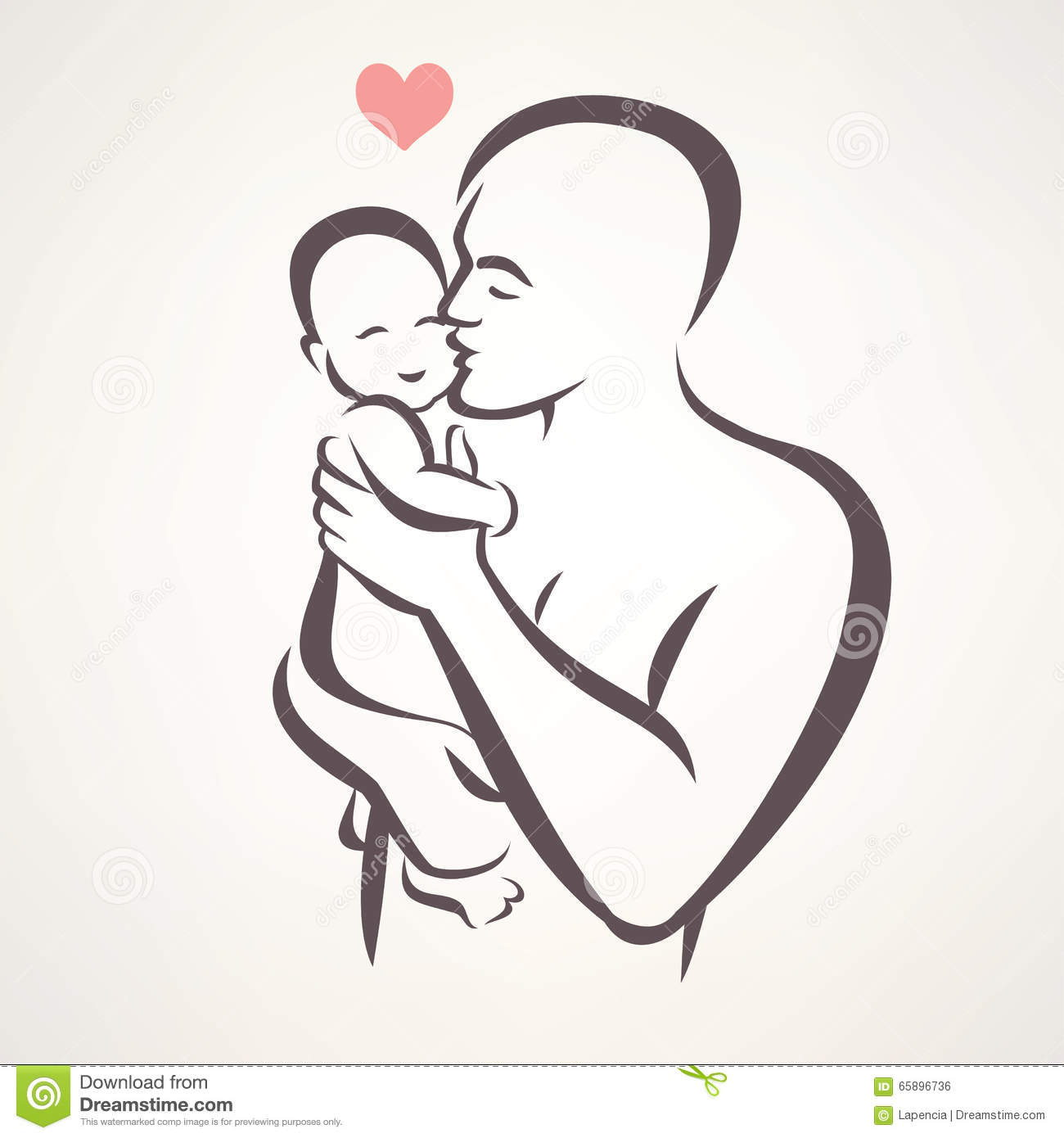 Father And Baby Stock Vector Illustration Of Logo Icon