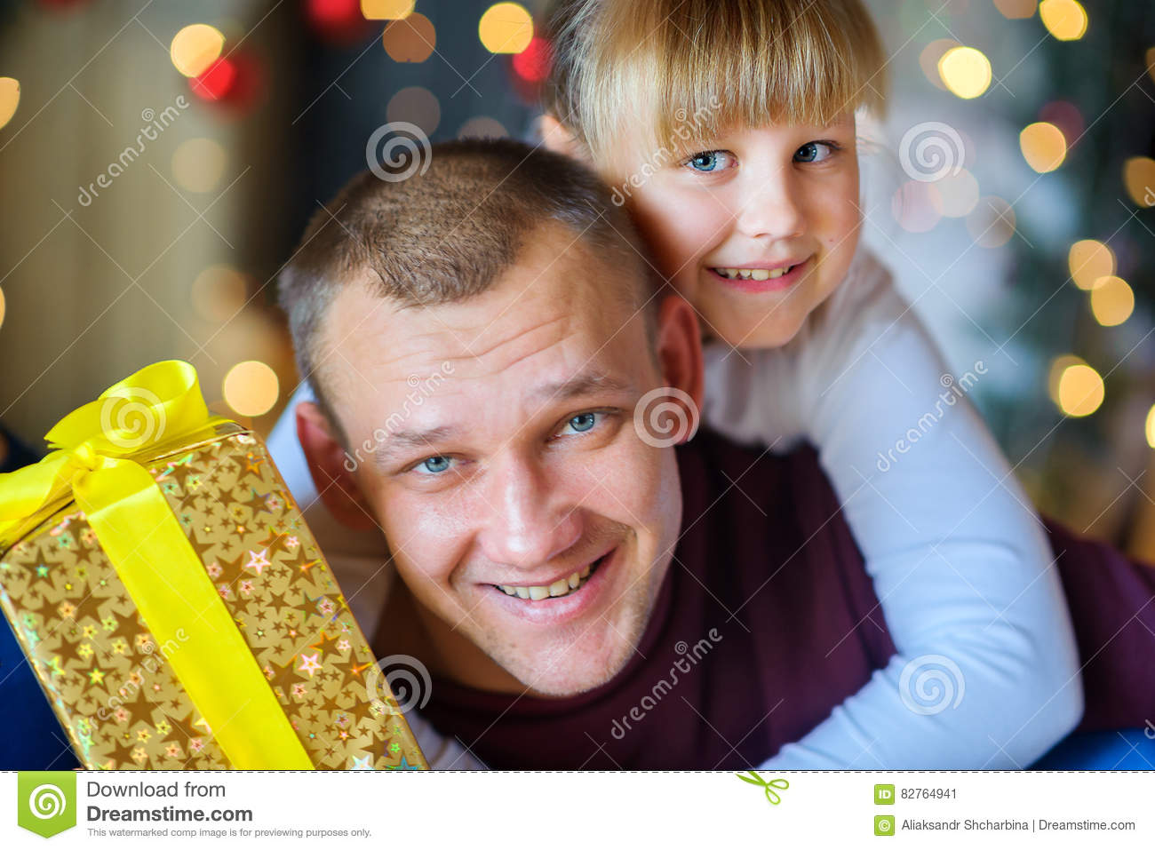 Father with the beloved little daughter