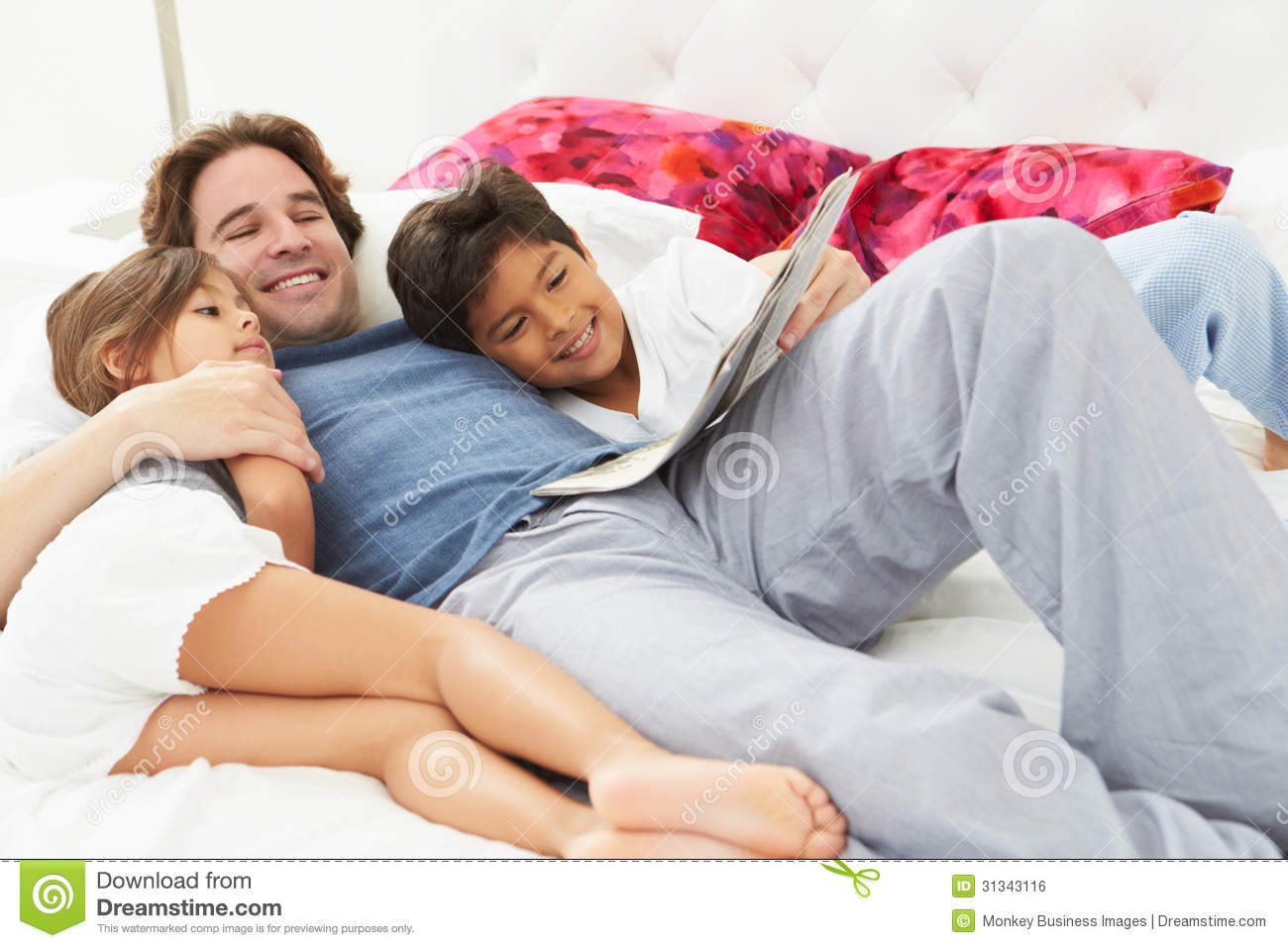 Girl And Boy In Bed Together