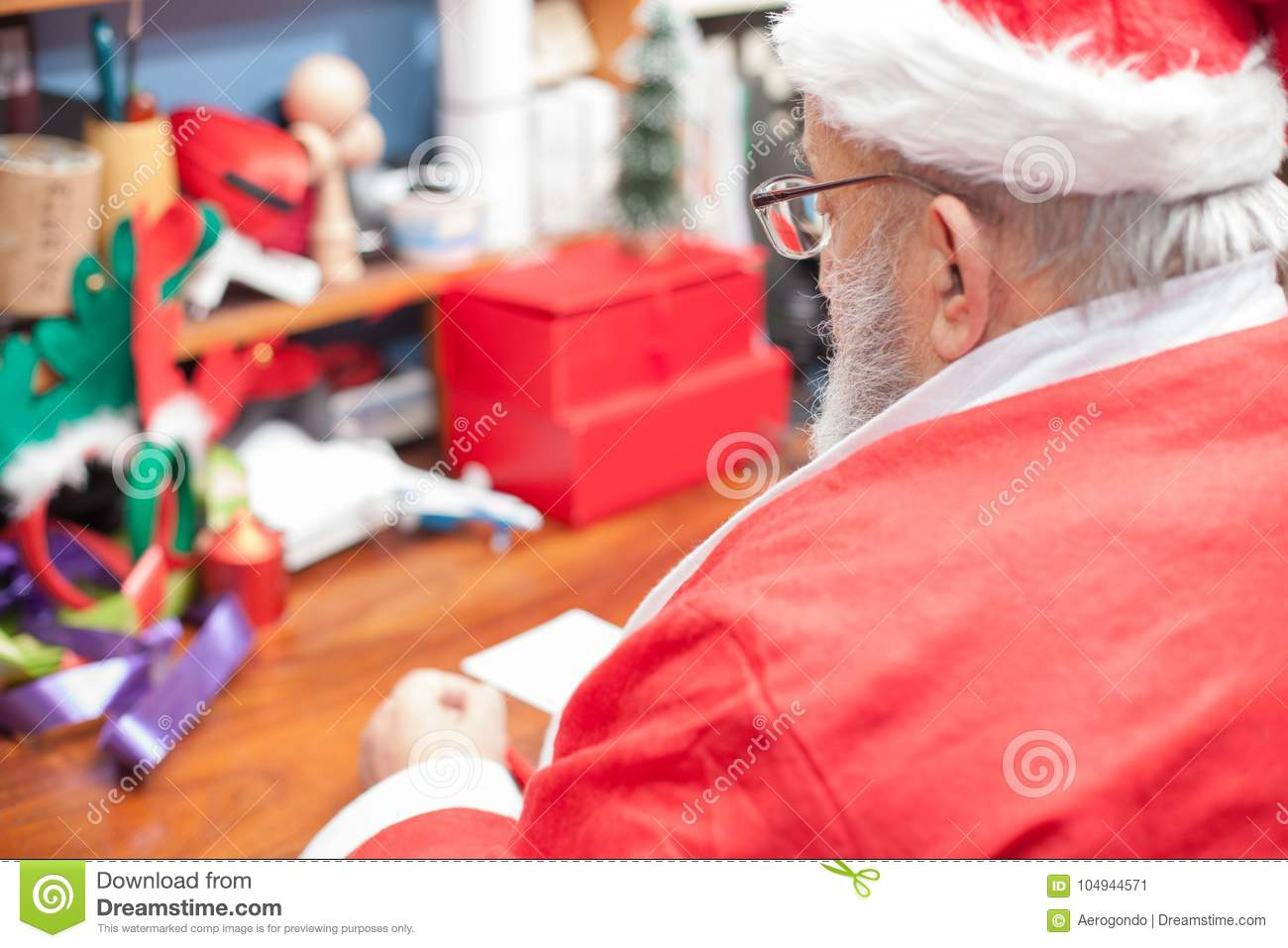 Santa claus father writing letters at his home stock image image download santa claus father writing letters at his home stock image image of elderly spiritdancerdesigns Gallery