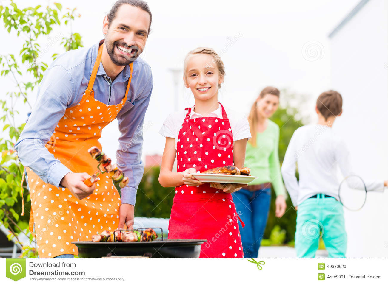 Woman Cooking Bbq Stock Photography - Image: 13176162