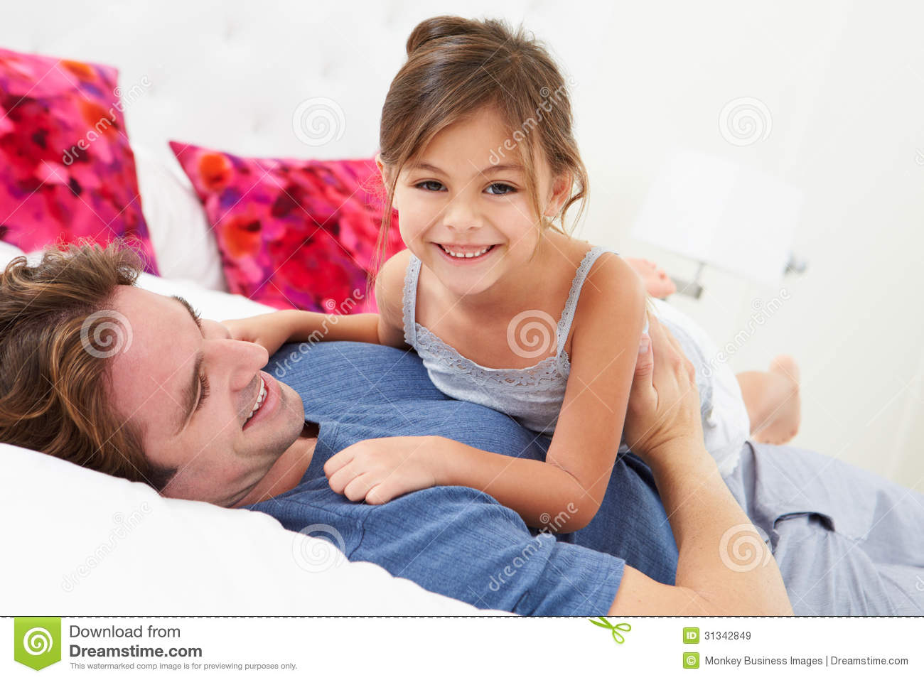 Daughter Gets In Bed With Dad