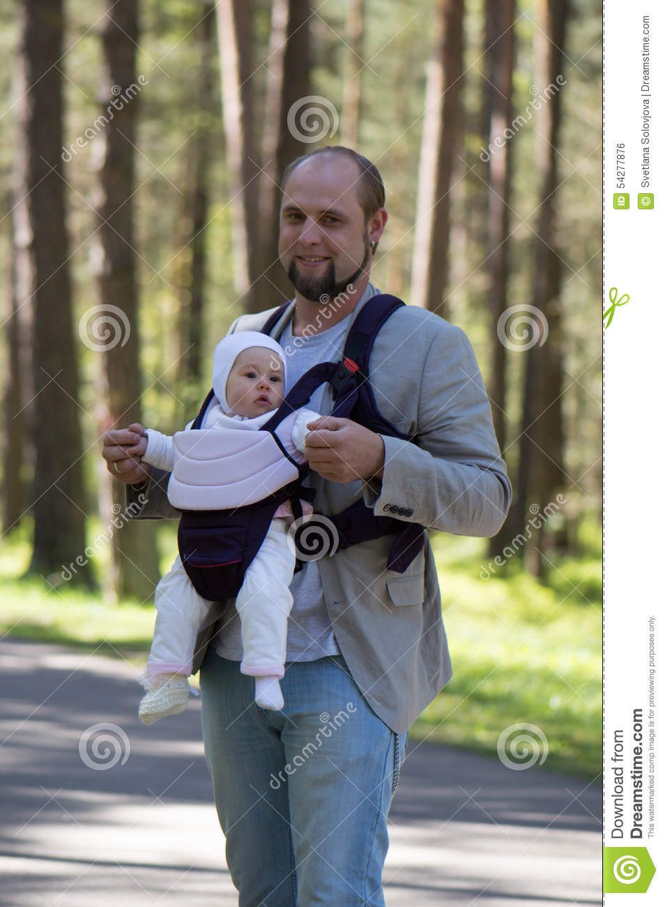Father Daughter Walk Stock Photo Image Of Backrest Happy 54277876