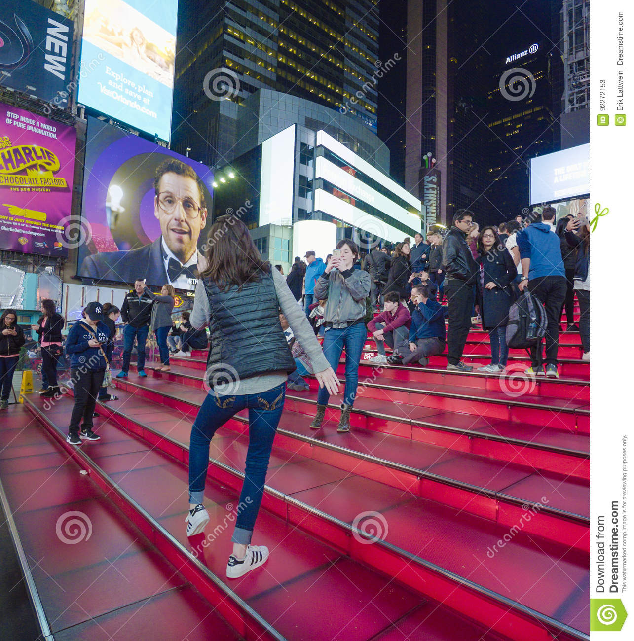 Father Duffy steps at Times Sqaure New York- MANHATTAN - NEW YORK - APRIL 1, 2017