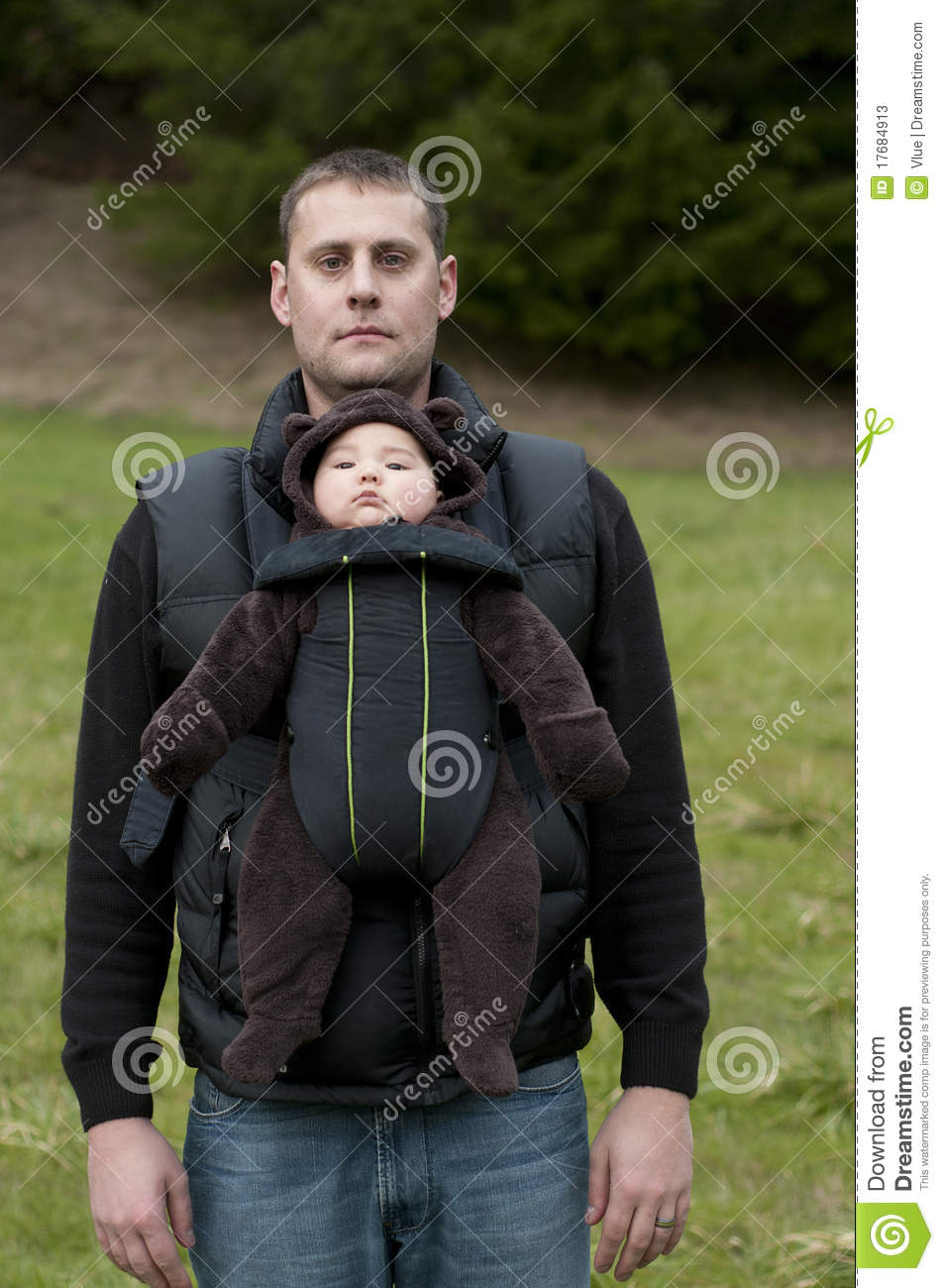 Father With Front Baby Carrier Stock Photos Image 17684913
