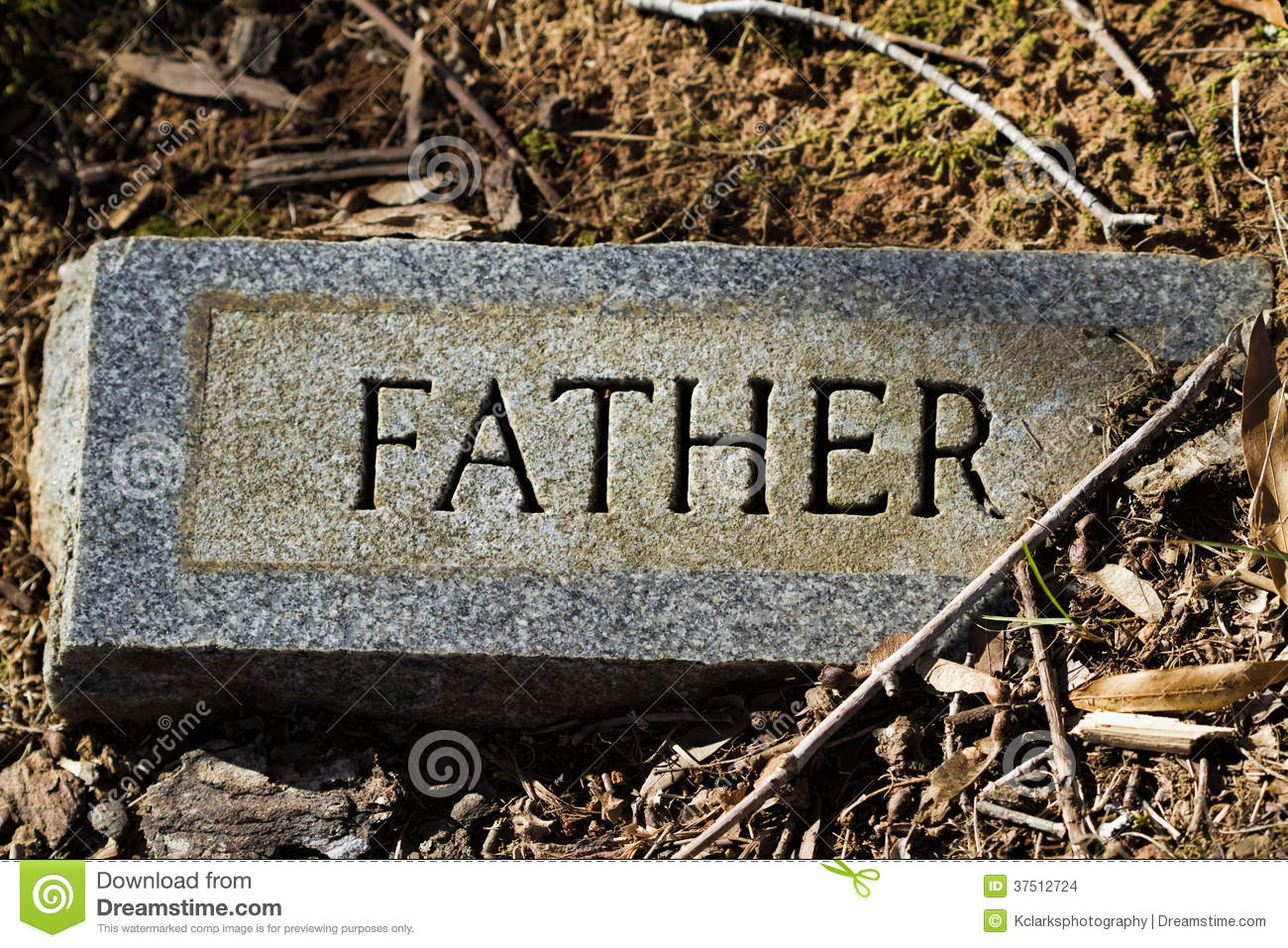father granite gravestone marker stock photo image 37512724. Black Bedroom Furniture Sets. Home Design Ideas