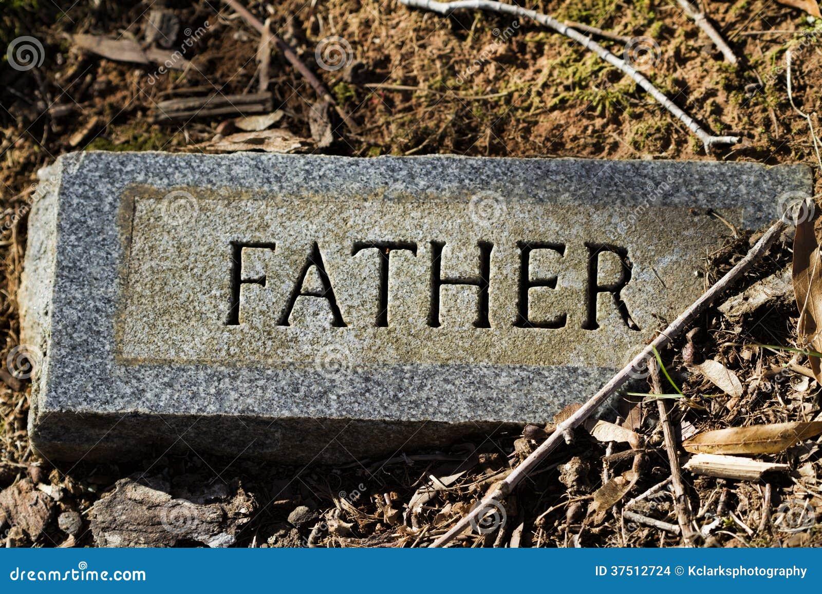 father granite gravestone marker stock images image 37512724. Black Bedroom Furniture Sets. Home Design Ideas