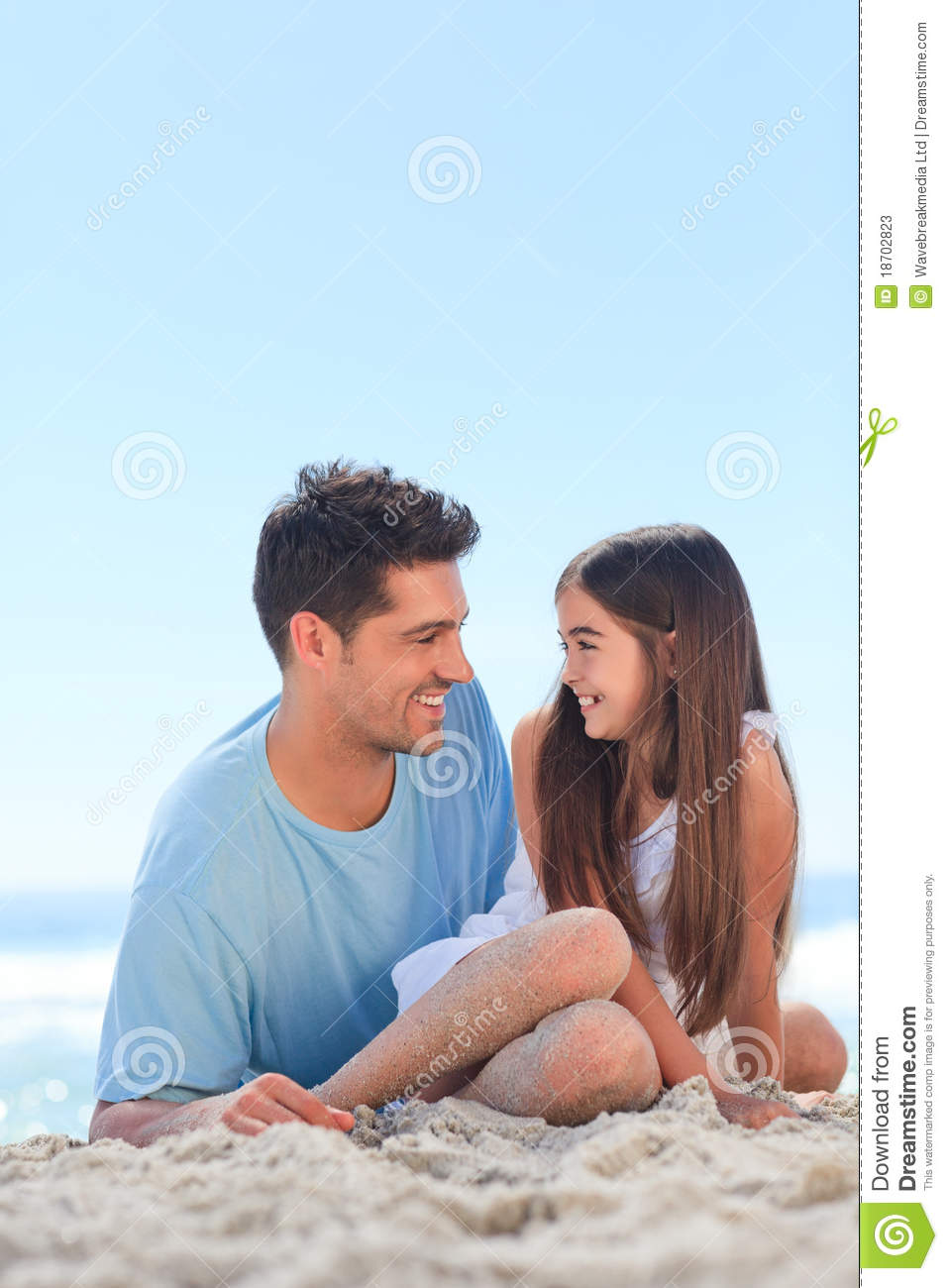 beach daughter father nude