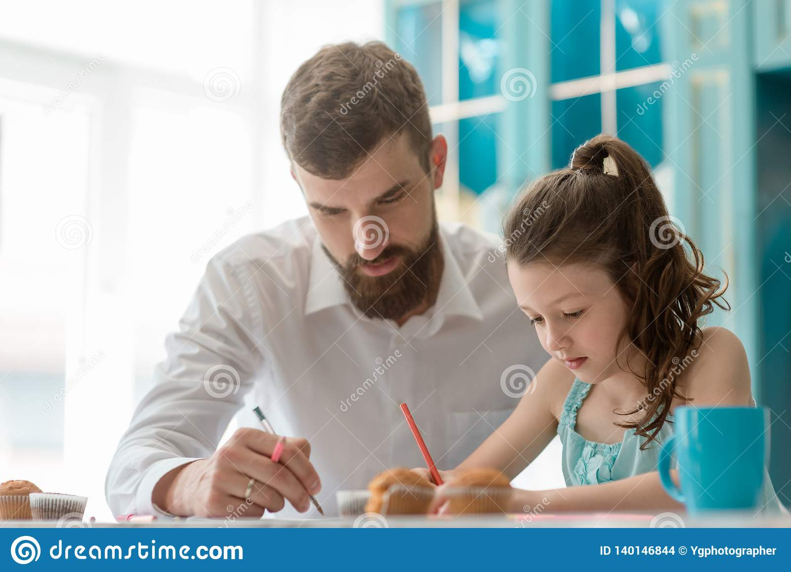 Father and his daughter