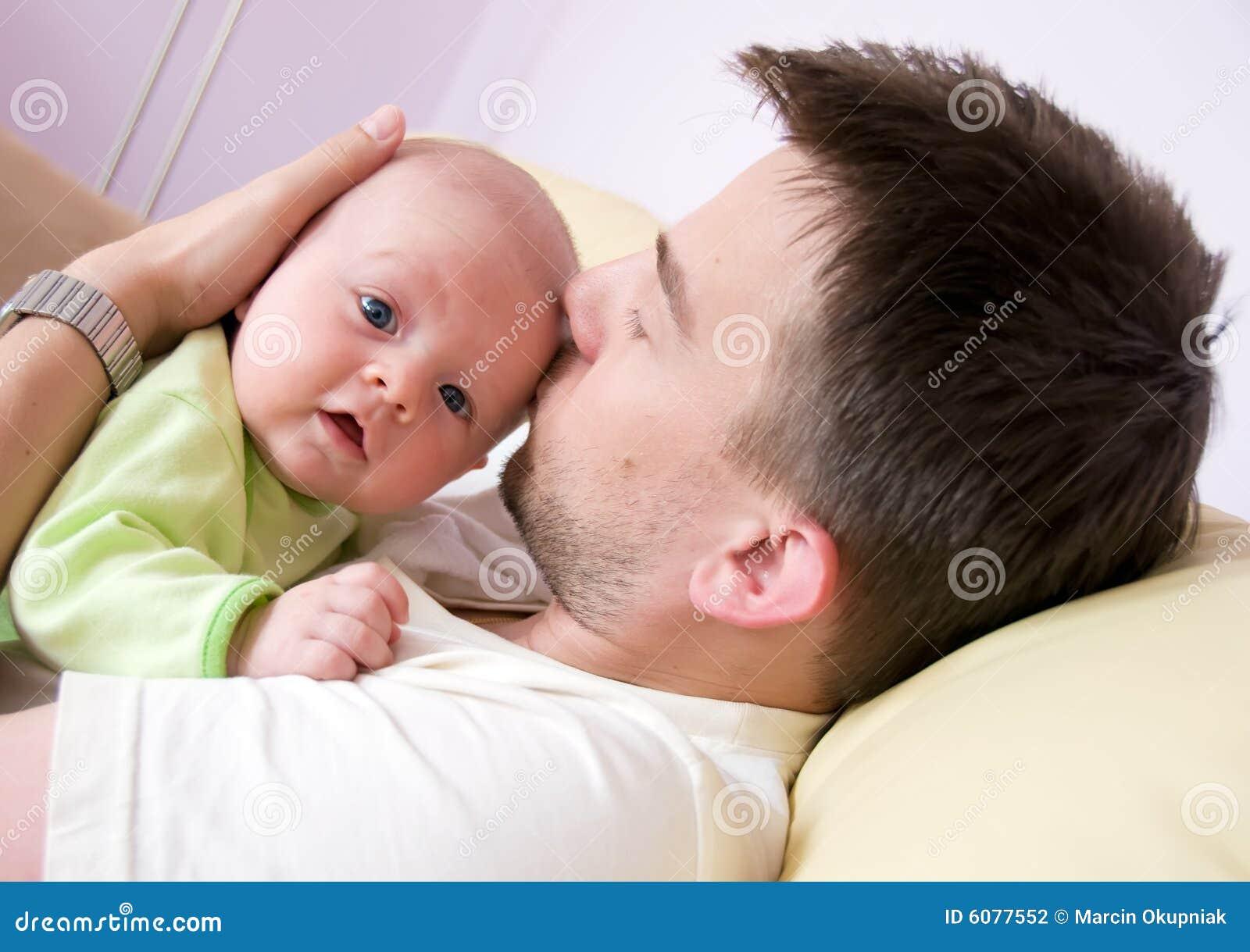 Father with newborn