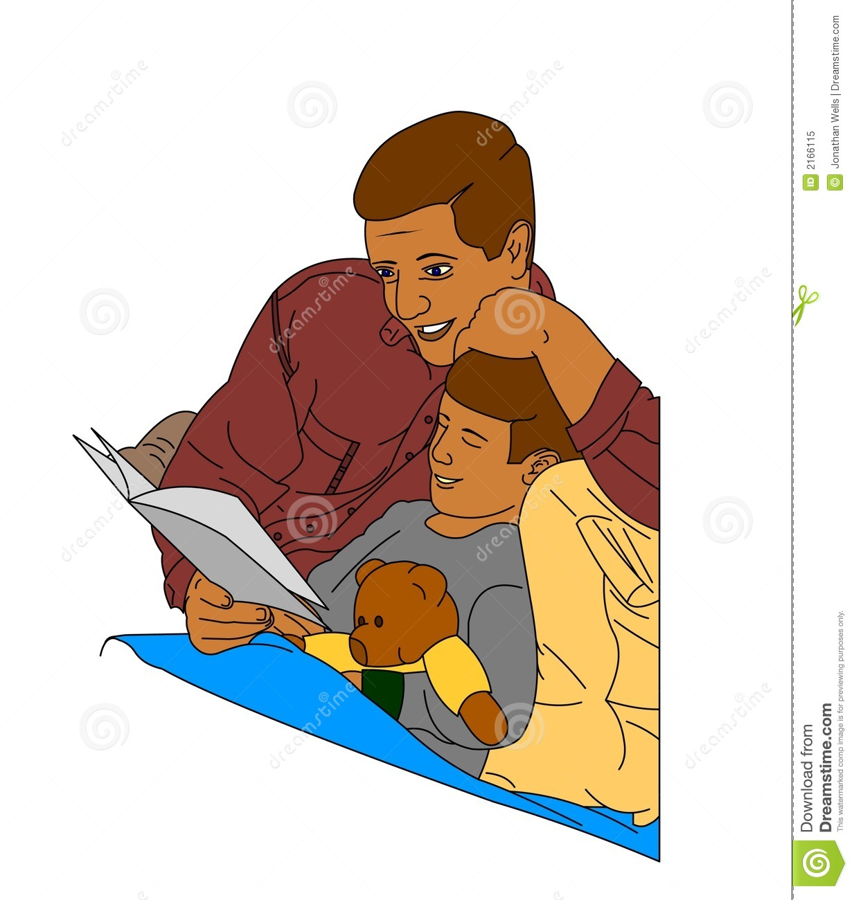 Father reading a story stock vector image of nighttime for Bed stories online