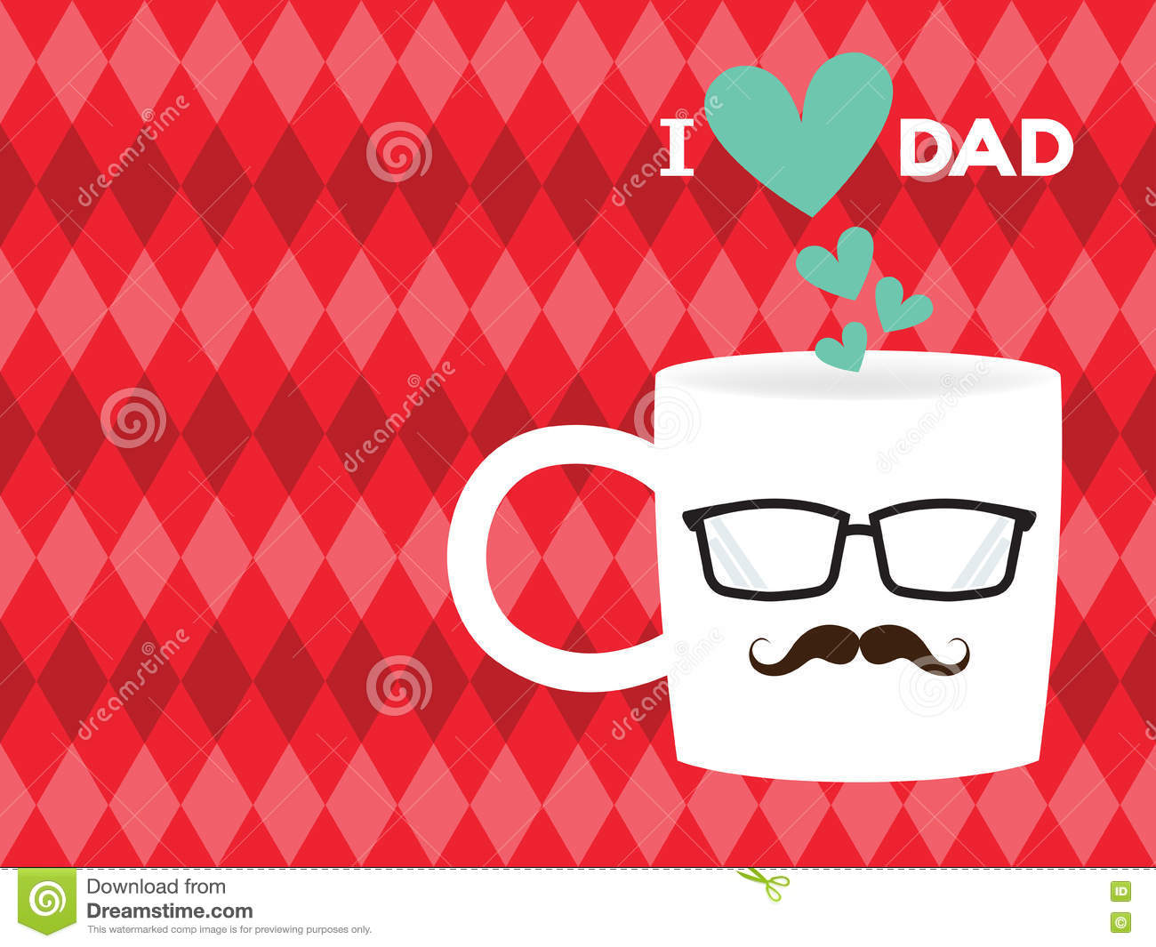 Fathers day card stock vector illustration of hipster 73380109 father s day card m4hsunfo