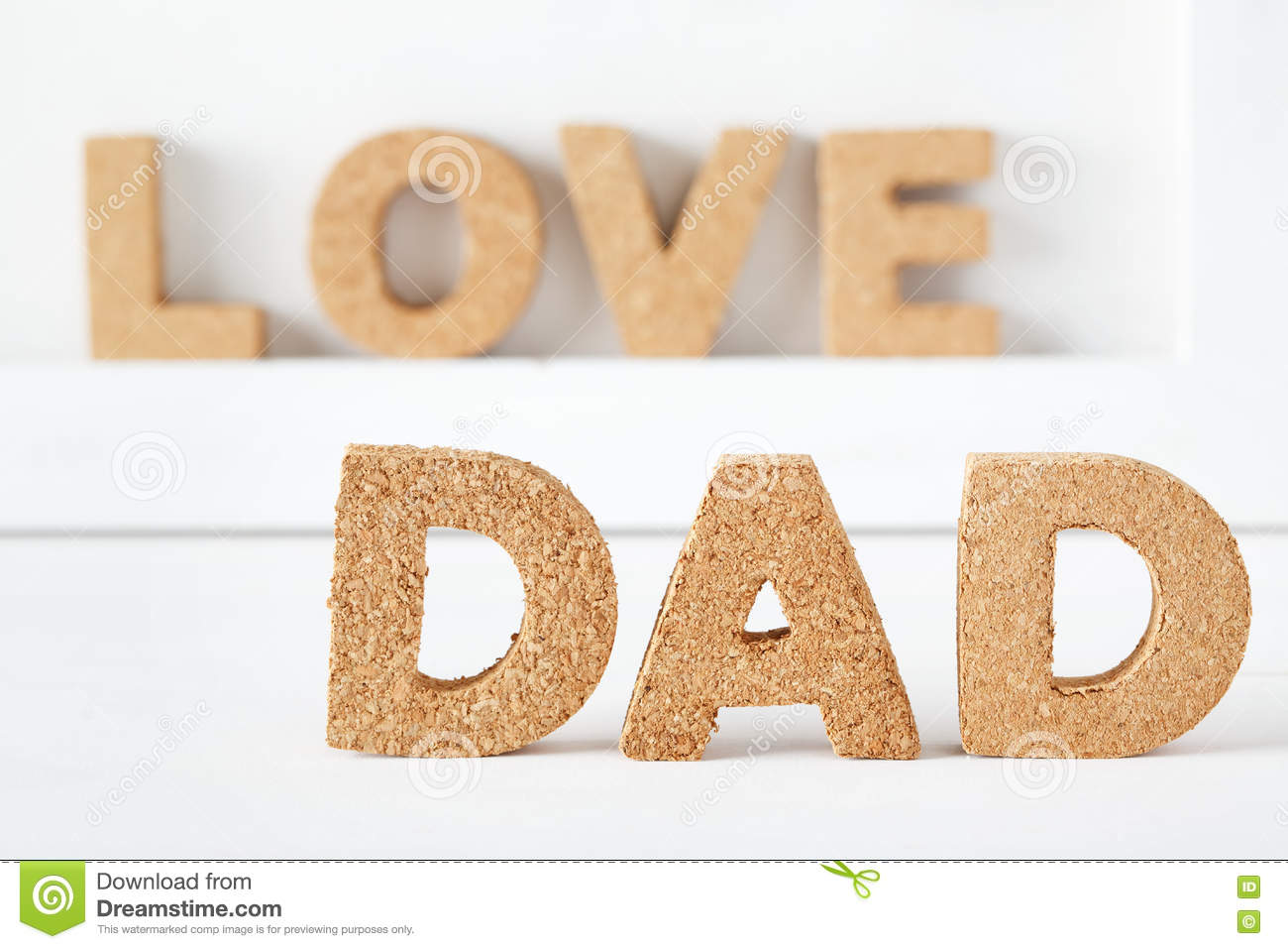 father s day celebration theme with dad cork letters