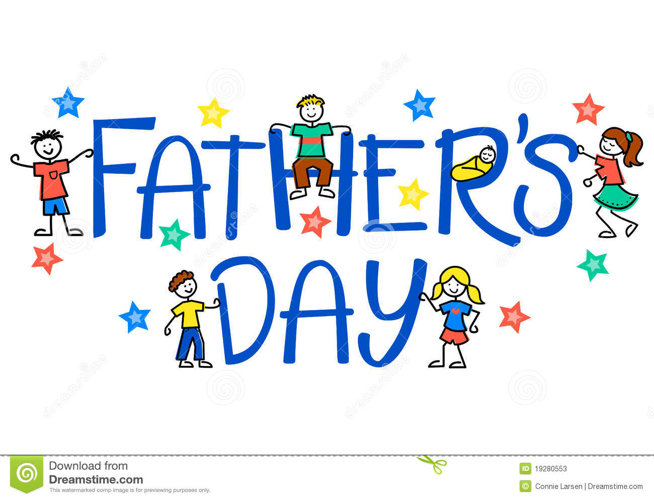 Father's Day Kids/eps stock vector. Illustration of boys ...