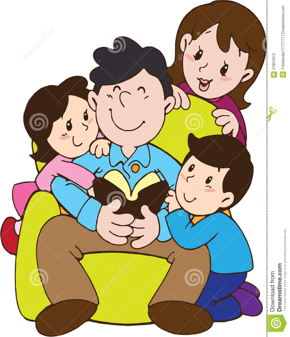 Father's Day With Love Family Stock Illustration ...