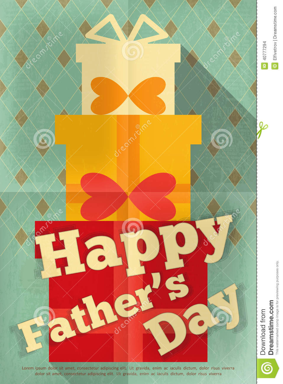 Father's Day Stock Vector - Image: 40777294