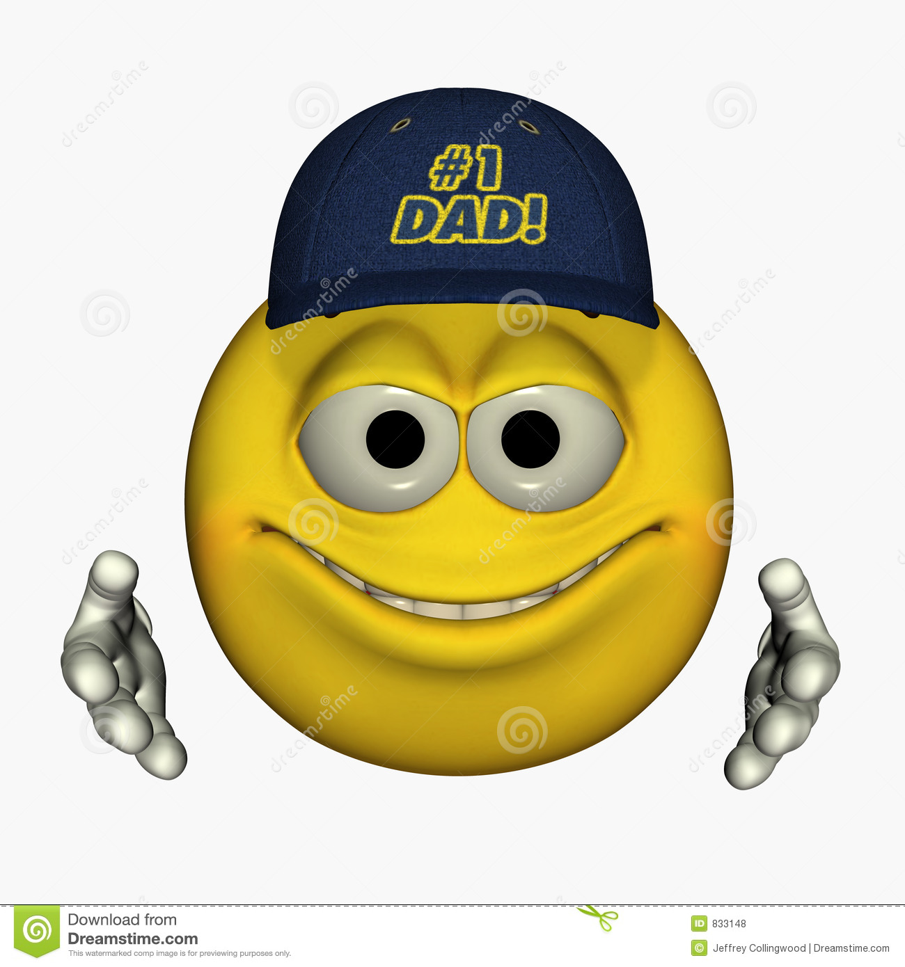 Father's Day Smilies 1 stock illustration. Image of accept ...