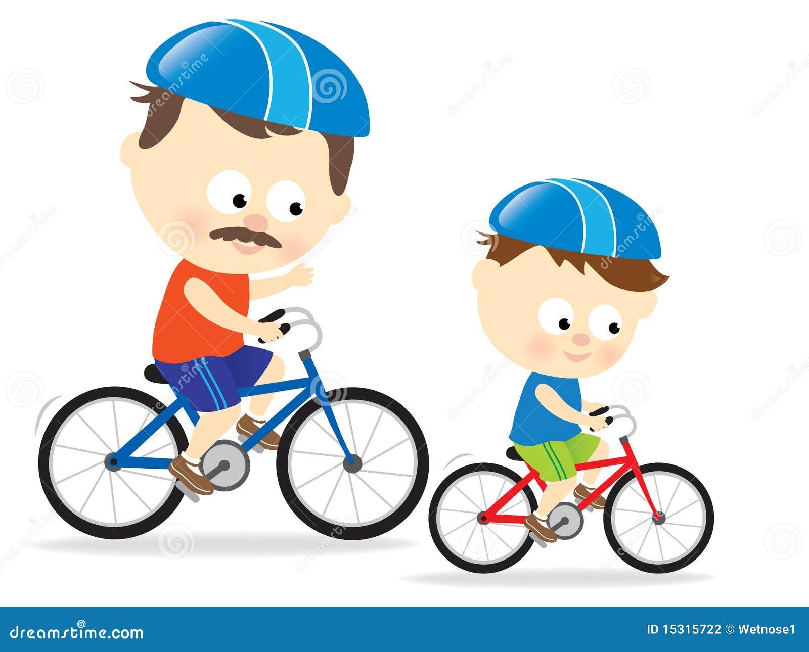 Boy On Bike Clipart