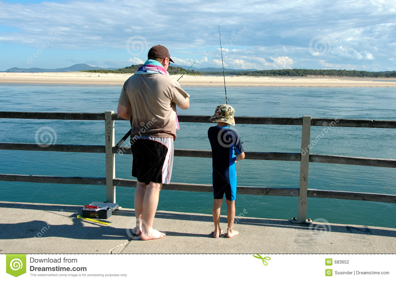 Father son fishing stock photography image 683652 for Father son fishing