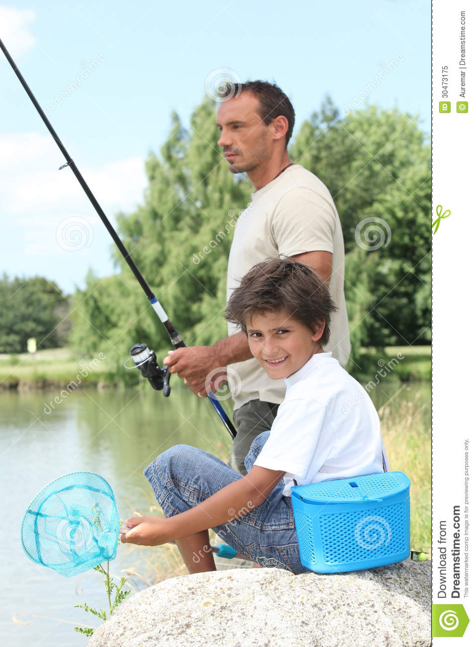 Father and son fishing royalty free stock photo image for Father son fishing