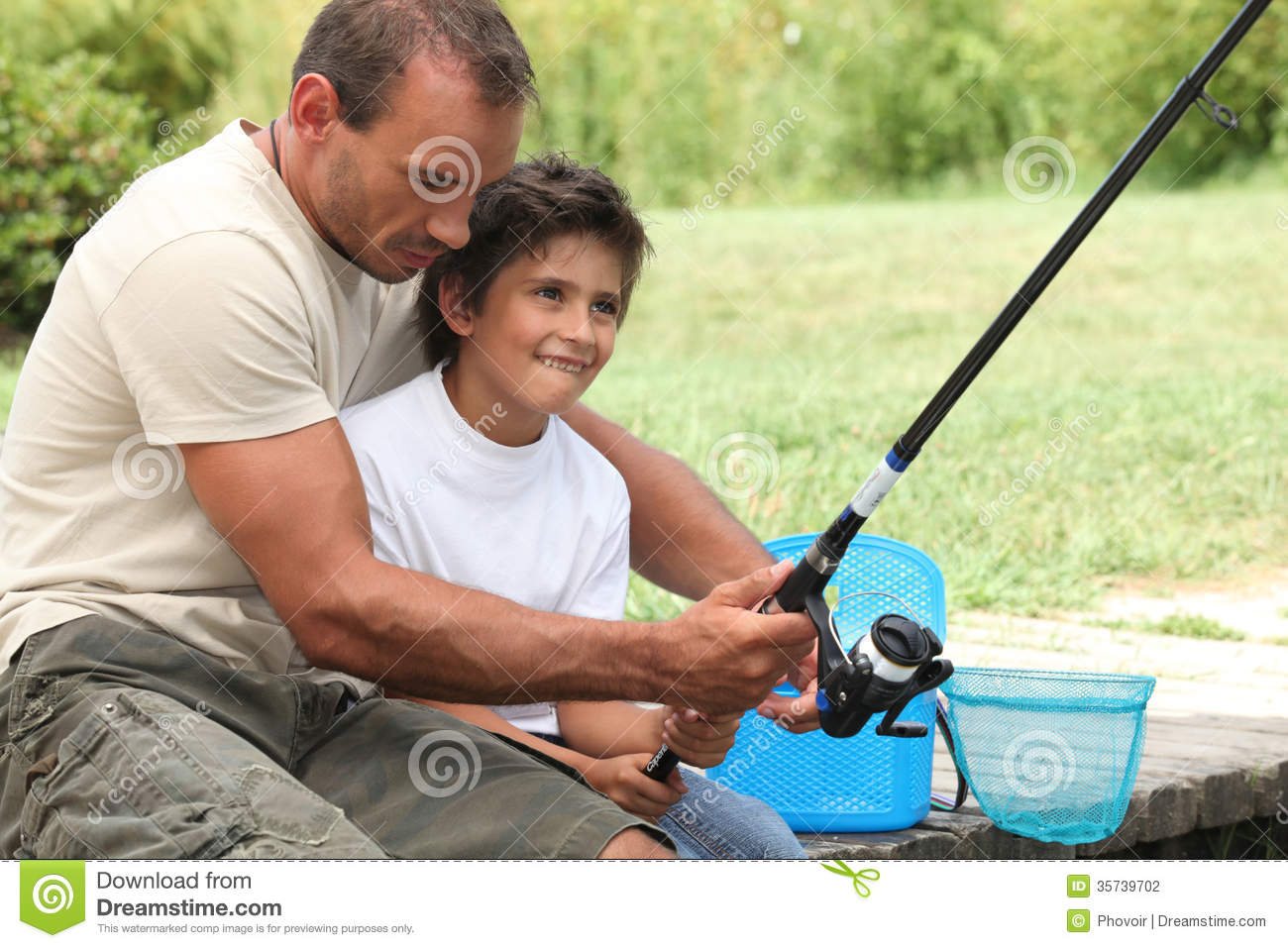 Father and son fishing stock photo image of back hair for Father son fishing