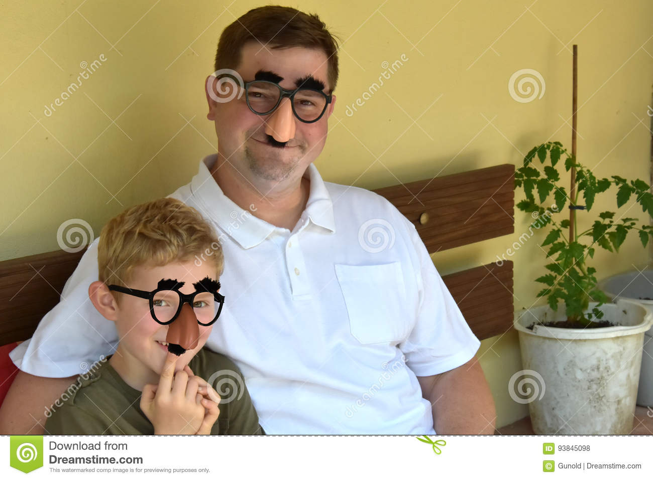 Father And Son Stock Photo Image Of Family Grouch Eyebrows 93845098