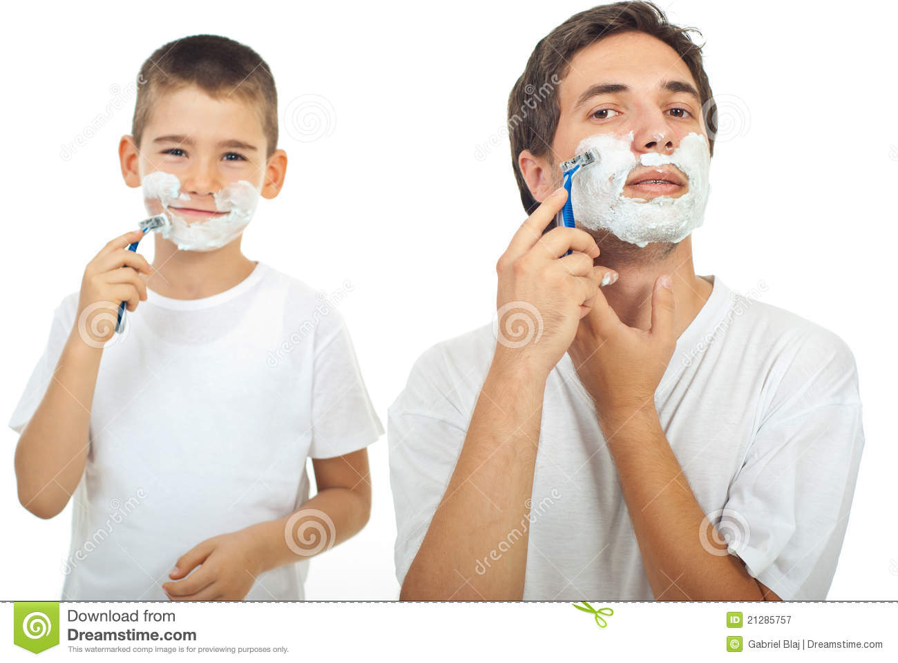 father and son shaving stock image image of cute hold 21285757. Black Bedroom Furniture Sets. Home Design Ideas