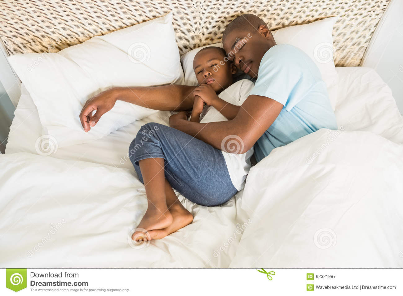 Father Son Sleeping Royalty Free Stock Photography