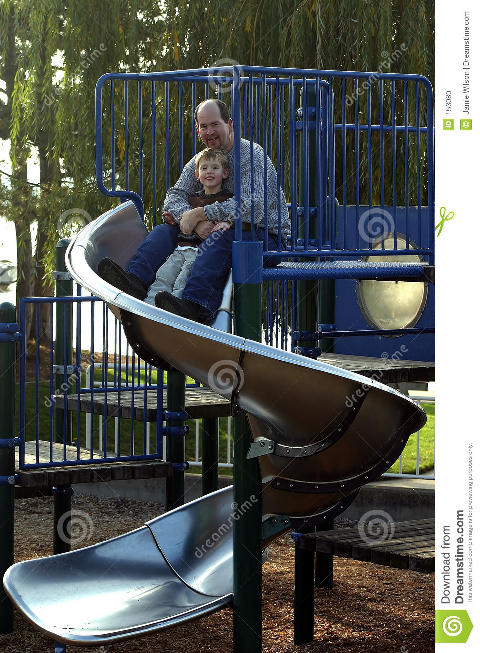 Father and Son on the Slide
