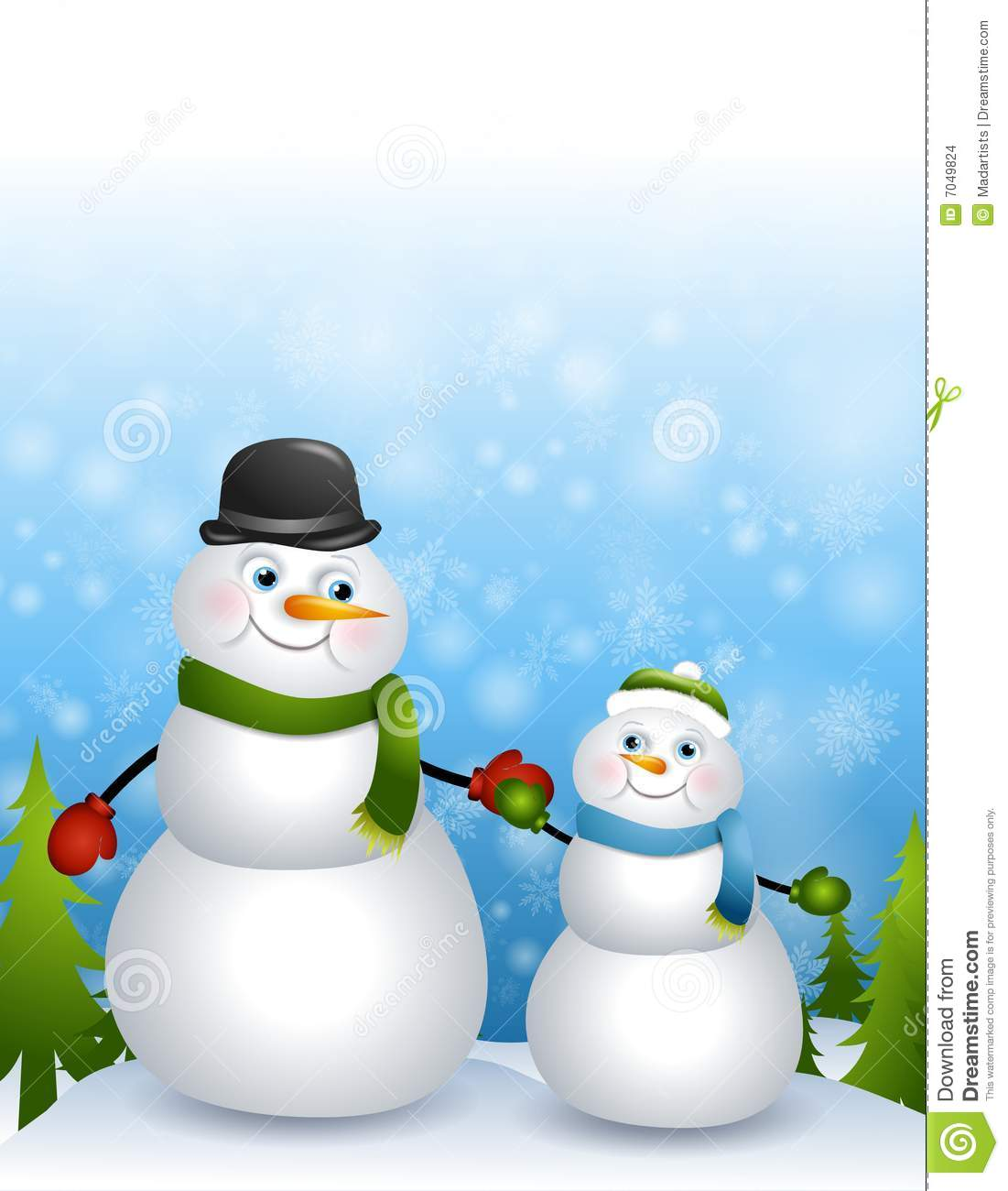father son snowmen stock images image 7049824