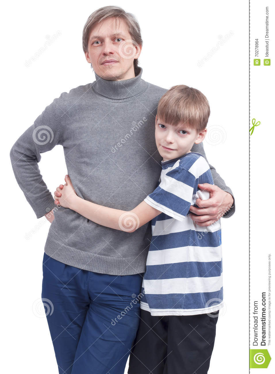 a3f8b5481 Father And Son Standing Together Stock Photo - Image of together ...