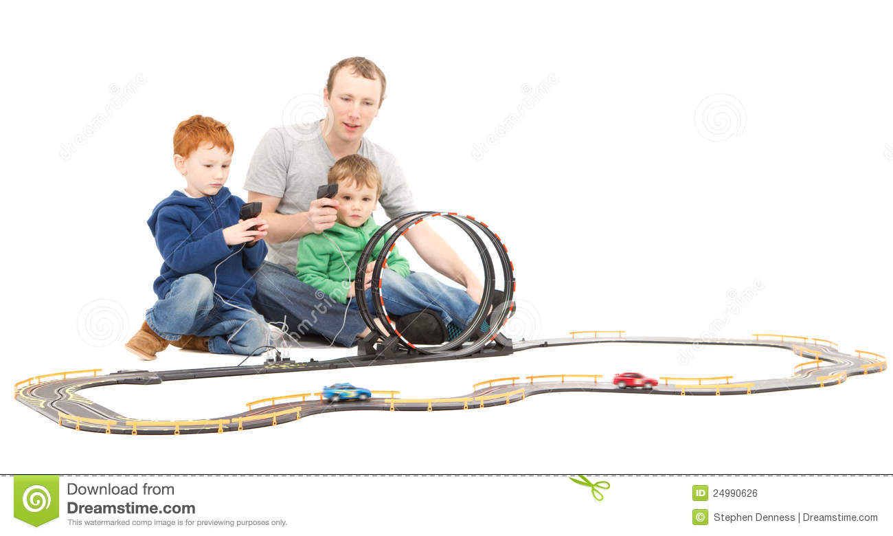 Boy child playing with kids toy cars stock photo for Motor racing for kids
