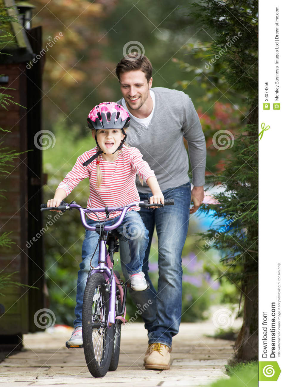 Daughter rides daddy