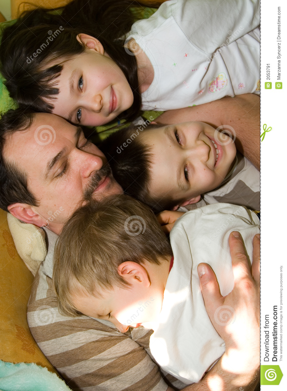 Father and three young sons