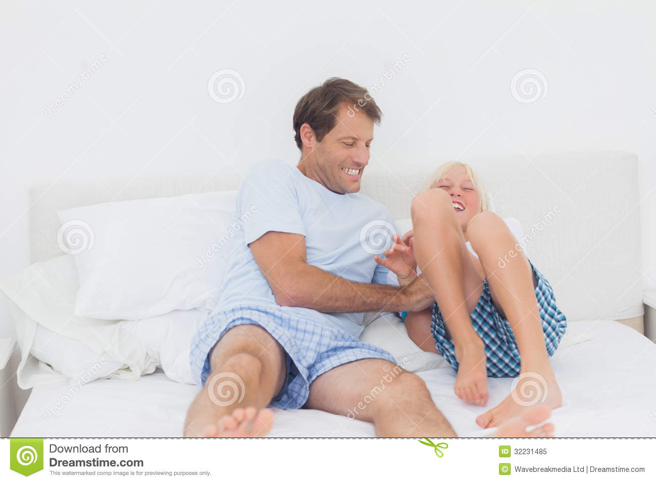 Father Tickling Son Royalty Free Stock Photo Image 32231485