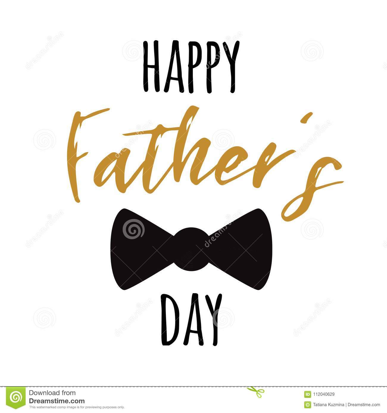 fathers day banner design with lettering black bow tie butterfly