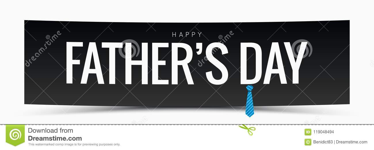 Fathers day banner vector background