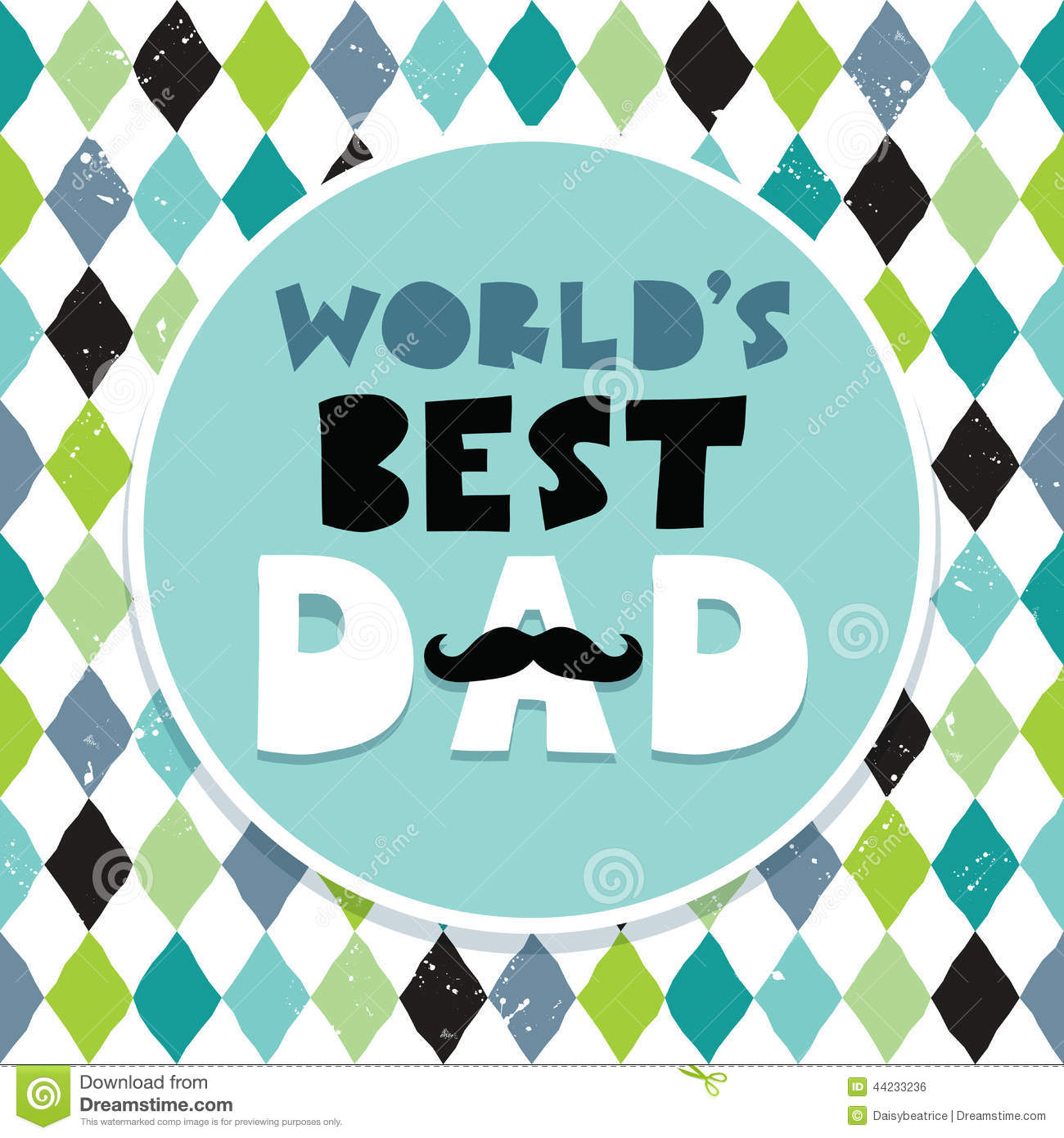 Fathers Day Card Text Frame Diamond Pattern Stock Vector - Image ...