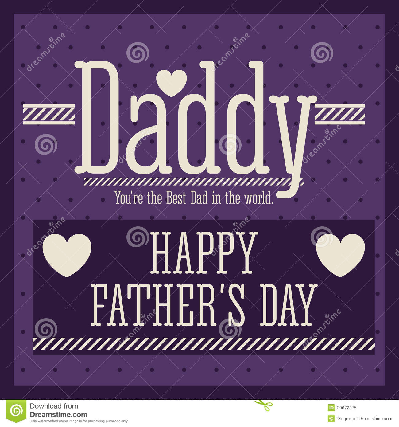 Fathers Day Design Stock Vector