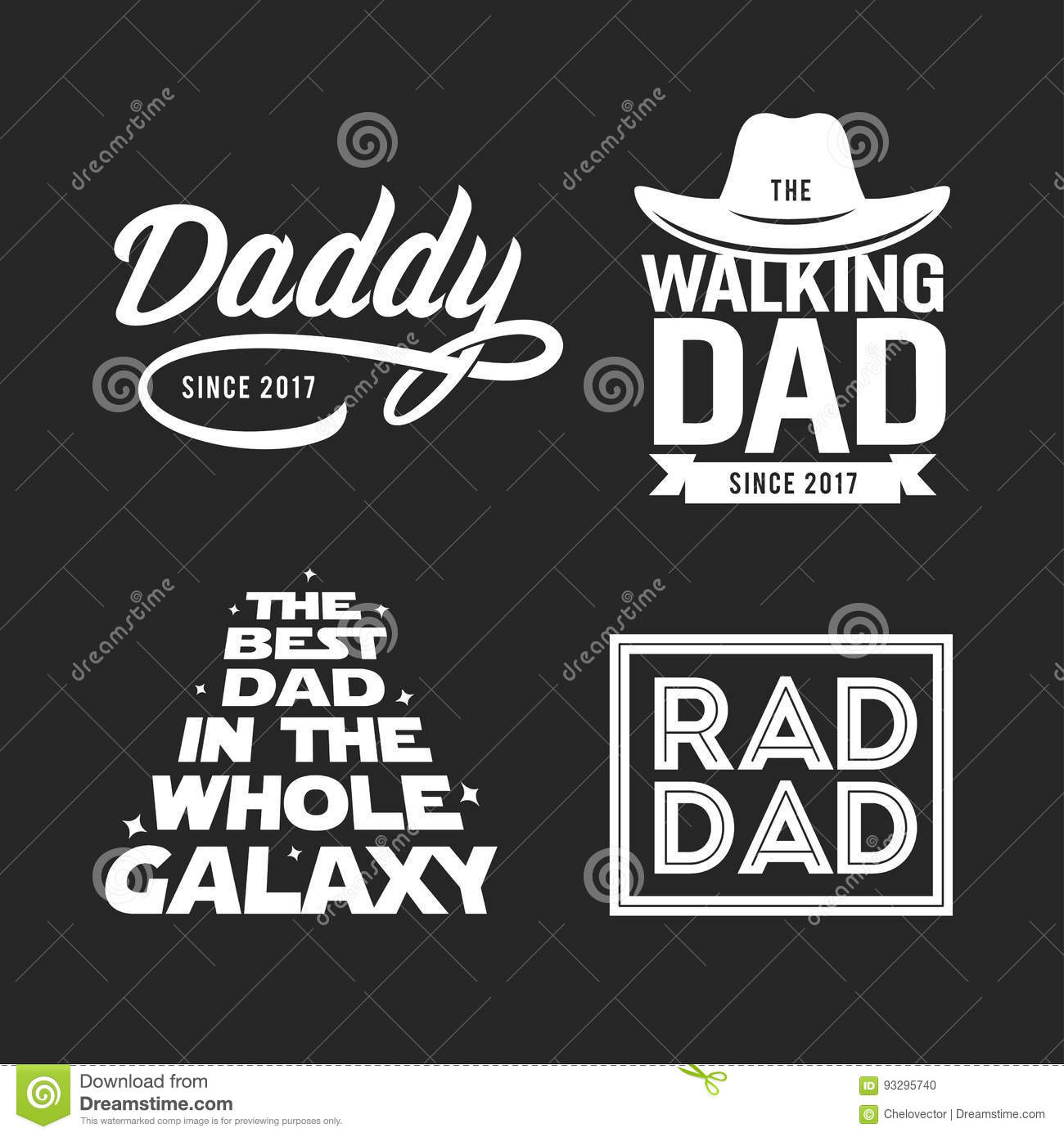Fathers stock illustrations 11106 fathers stock illustrations fathers day gift for dad t shirt design set vector vintage illustration fathers biocorpaavc Images