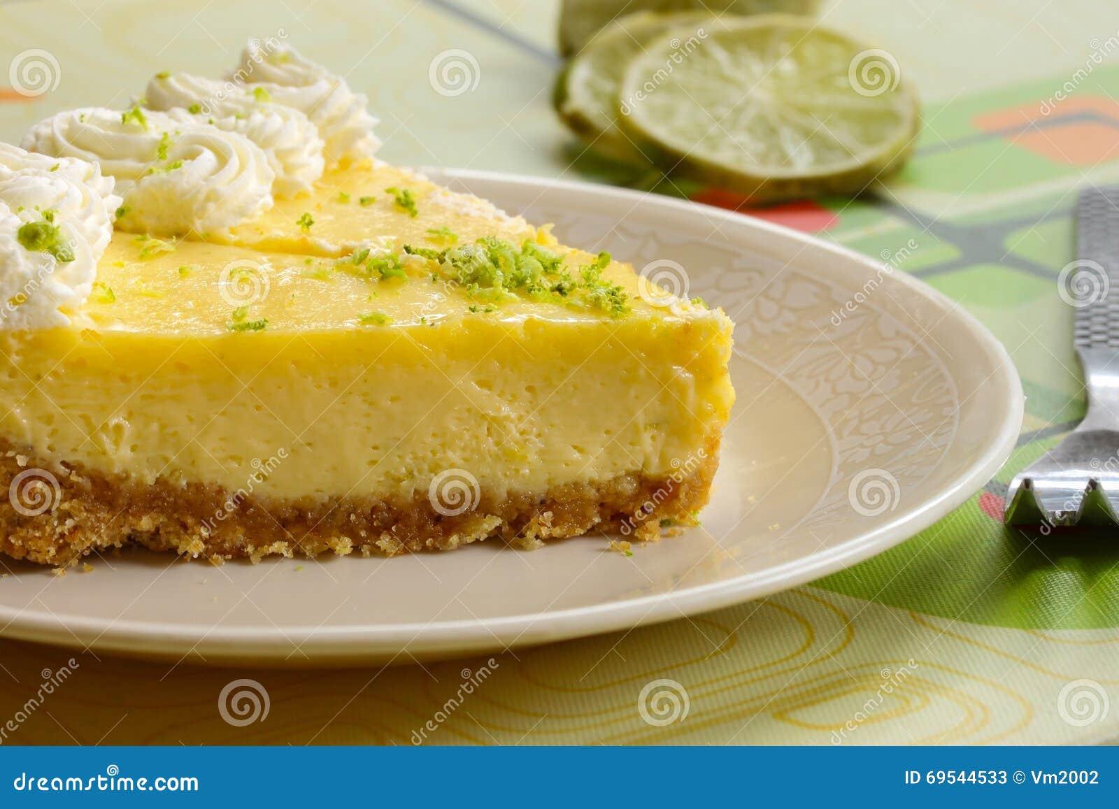 Fatia de alimento do americano da sobremesa da torta do cal chave