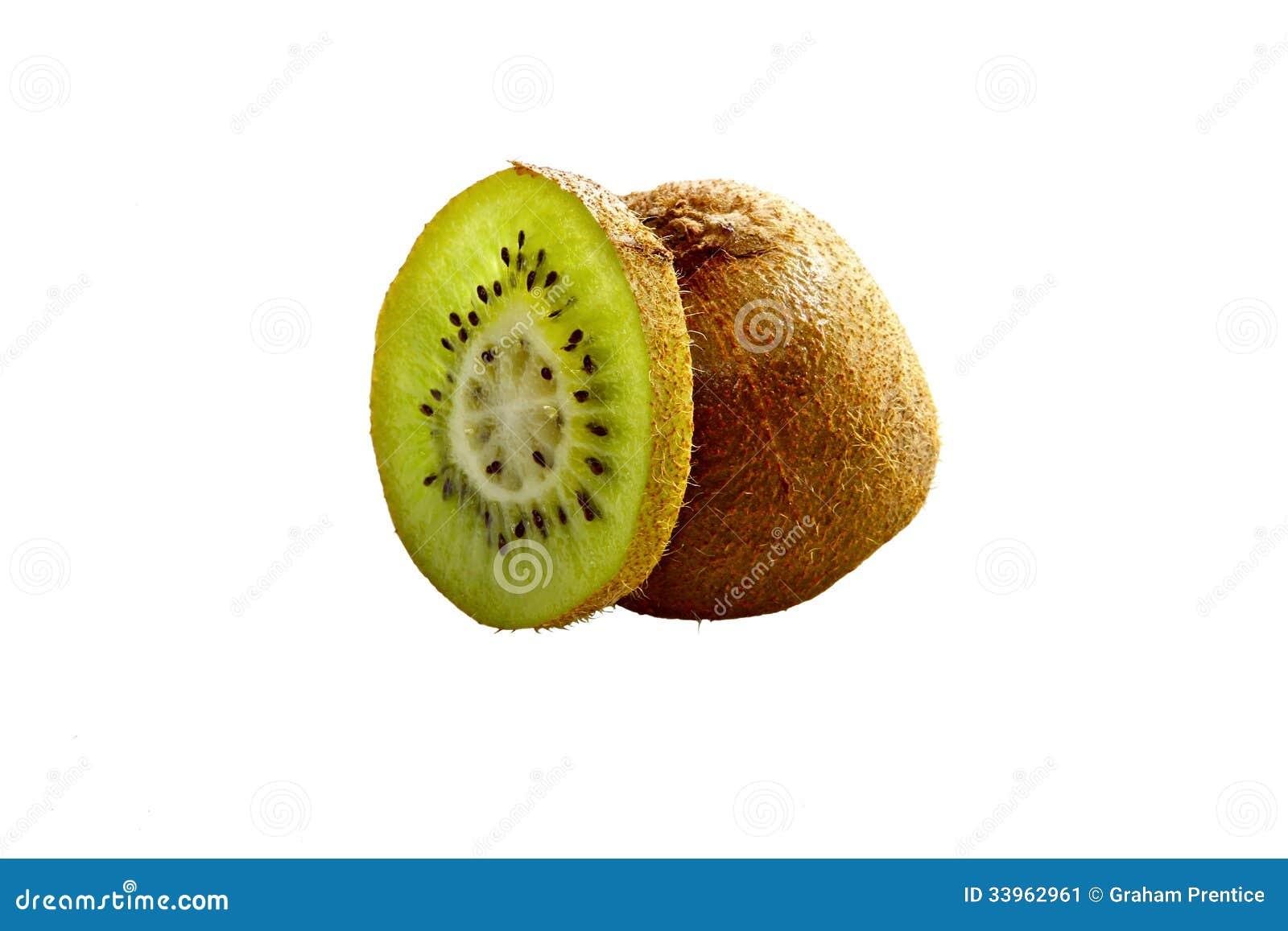 Fatia de Kiwi Fruit isolada