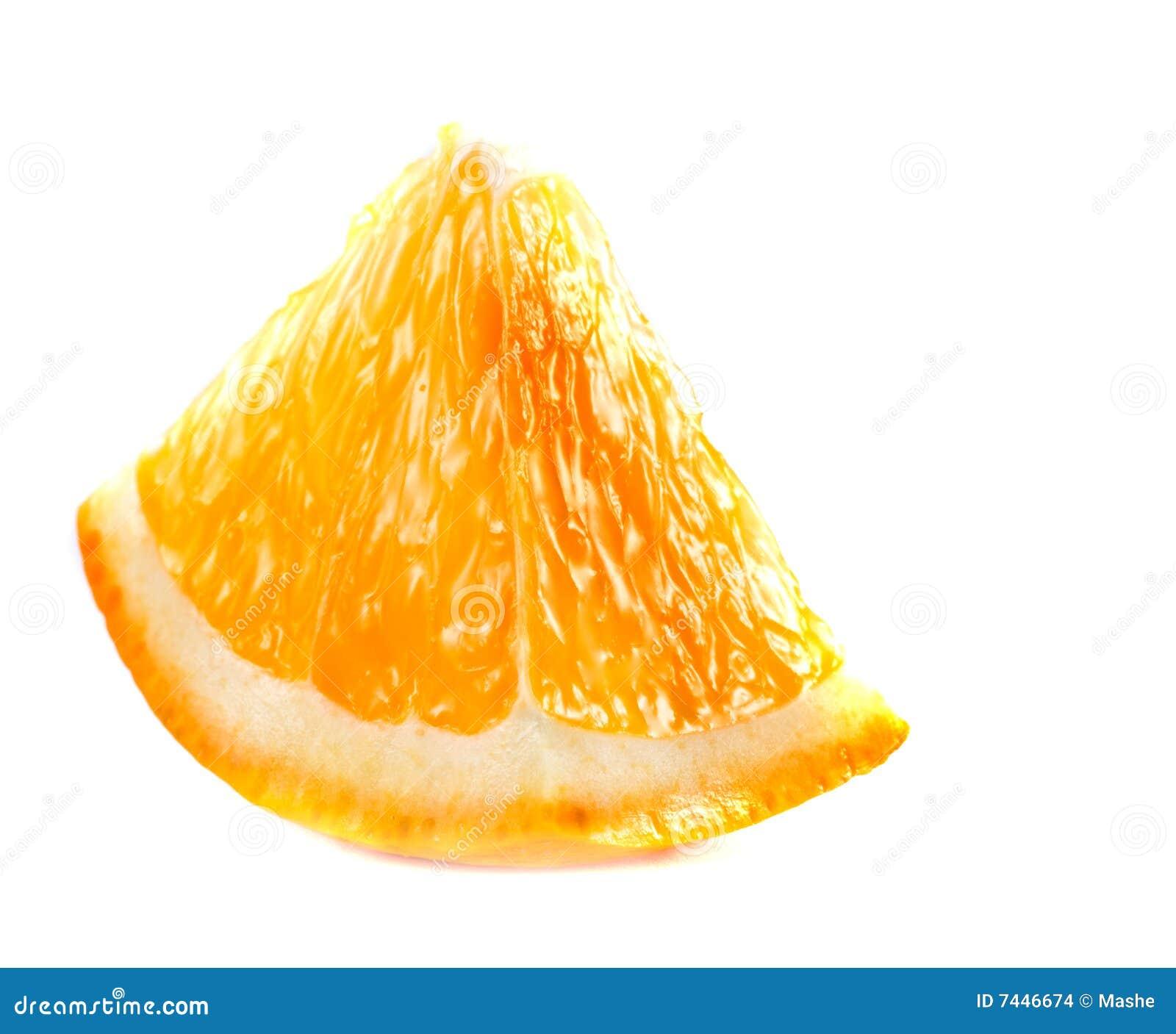 Fatia de laranja fresca