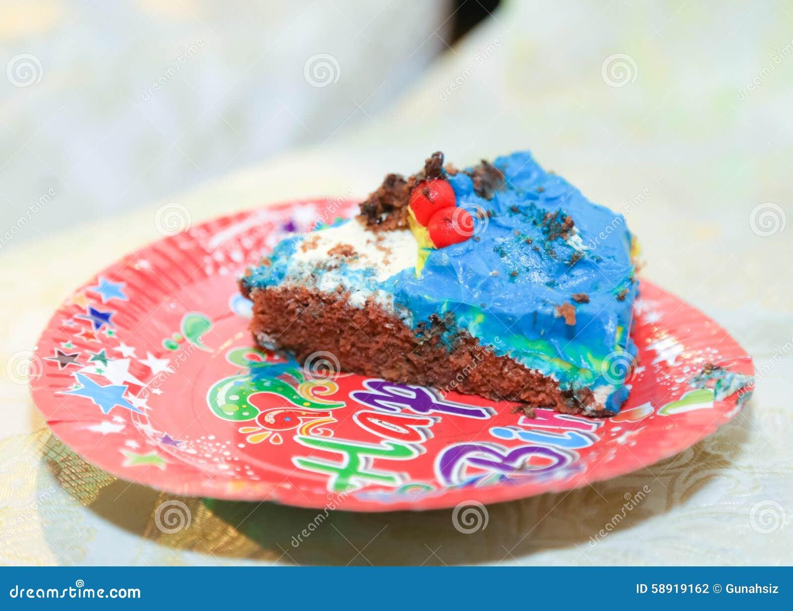 Fatia do bolo de aniversário